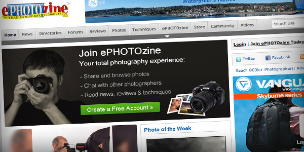 ePhotozine Top 20 Photography Websites 2011