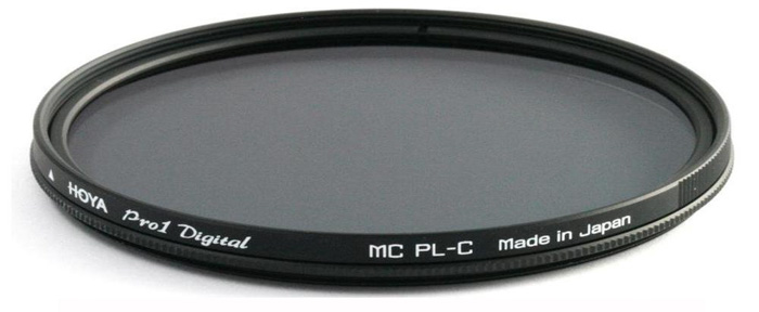 the Hoya 72mm DMC PRO1 Digital Circular Polarizer Glass Filter. Essential camera gear