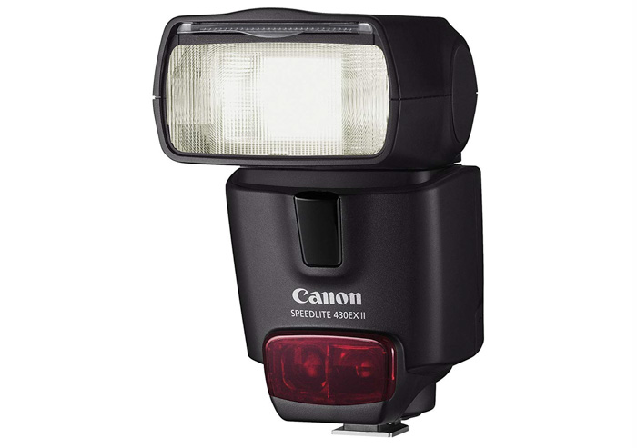 A Canon Speedlite 430EX iI external flash