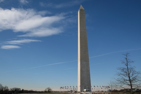 Photo of an obelisk against blue sky, demonstrating the use of vertical lines in photography composition