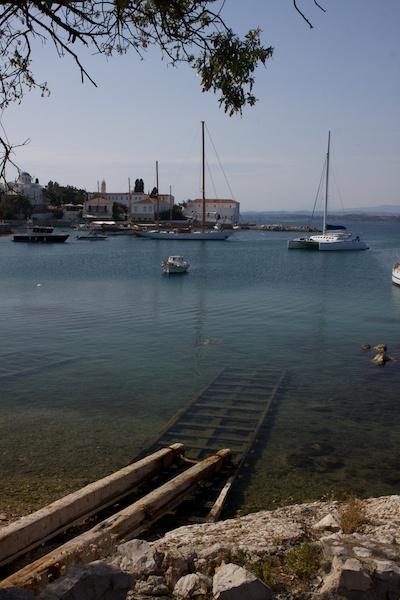 A serine harbor scene