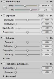 Screenshot of a part of Lightroom interface
