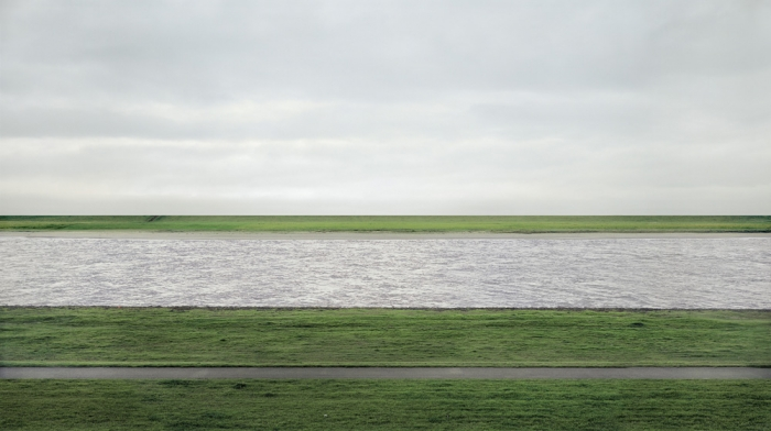 Worlds most expensive photo Rhein II taken by Andreas Gursky in 1999.