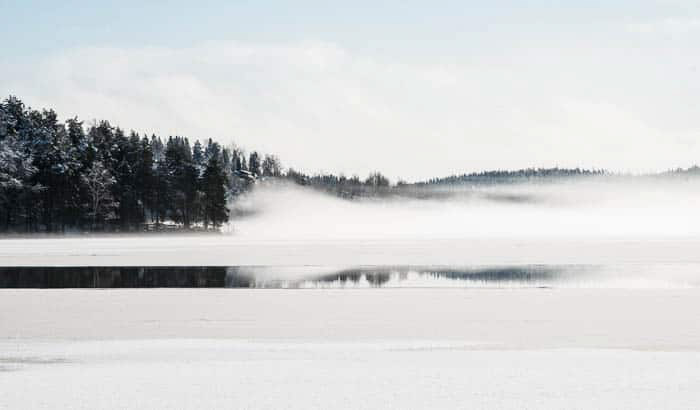 A pristine winter landscape scene - dslr photography for beginners