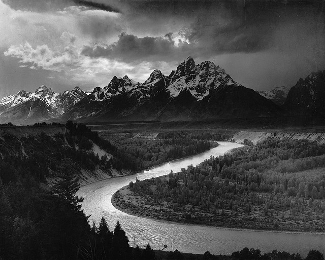 Ansel Adams Tetons and Snake River