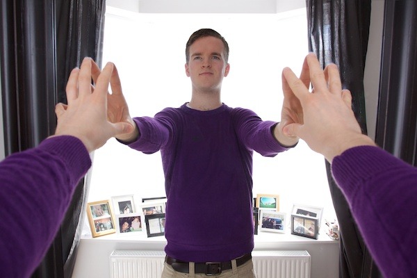Photo of a mirror trick edited in Photoshop