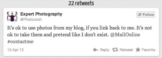 Screenshot of a tweet