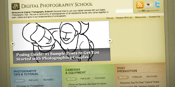 Digital Photography School Top 20 Photography Websites 2012