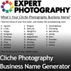 Fun Cliche Photography Business Name Generator