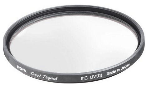 A Hoya UV camera lens filter