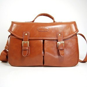 Cosmos Vintage Brown Shoulder Pu Leather Camera Bag