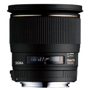 Sigma 24mm f/1.8 EX DG Aspherical Macro Large Aperture Wide Angle Lens