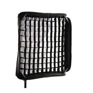 24-Inch Portable Foldable Off-camera Flash Portrait Softbox with Grid for Speedlites