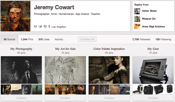 JeremyC Top 20 Photography Pinterest Boards