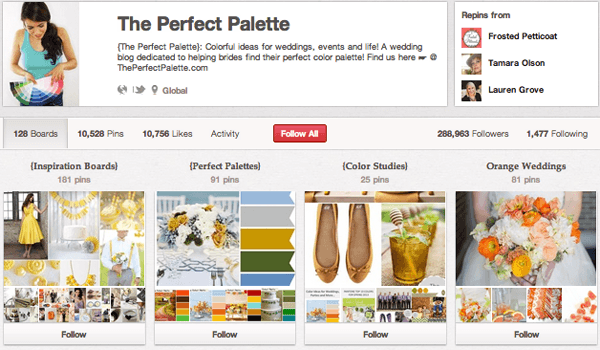 Perfect Pallette Top 20 Photography Pinterest Boards