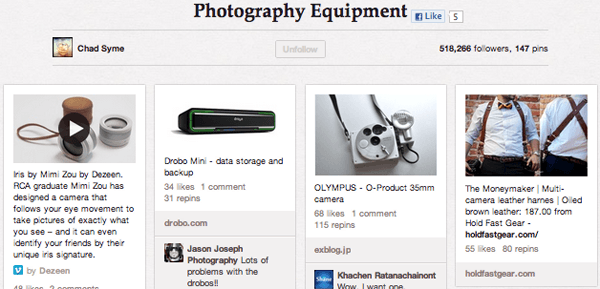 Pho Equip Top 20 Photography Pinterest Boards