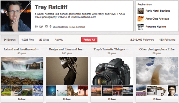 Trey R Top 20 Photography Pinterest Boards