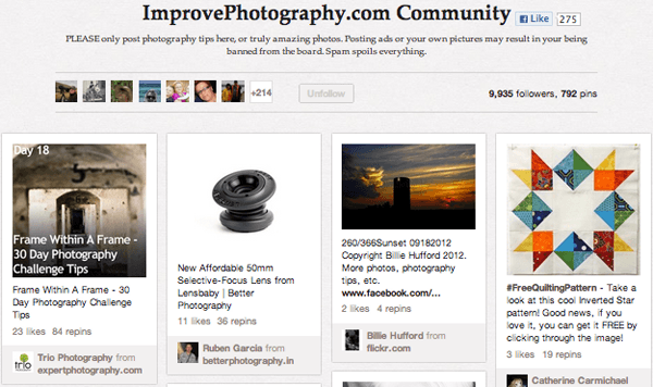 improve community Top 20 Photography Pinterest Boards