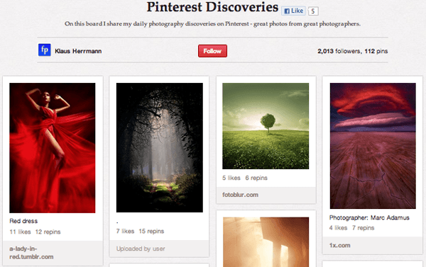 klas Top 20 Photography Pinterest Boards