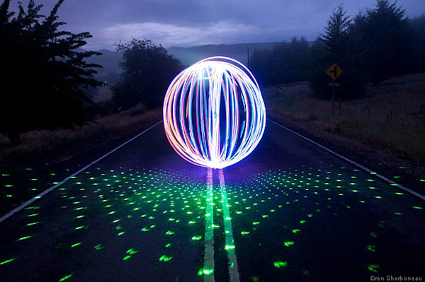 orb galaxy laser pen light painting1 Trick Photography and Special Effects eBook Photos