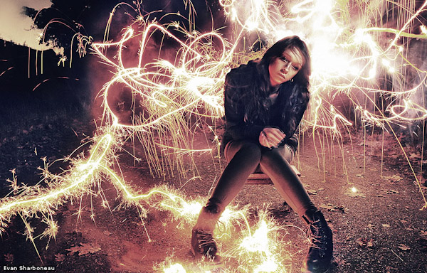 sparkler firework light painting long exposure portrait girl photography1 Trick Photography & Special Effects Ebook