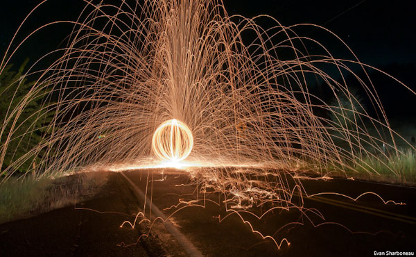 steel wool light painting long exposure road1 Trick Photography and Special Effects eBook Photos