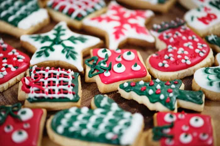 A selection of Christmas cookies