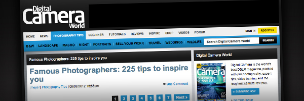 Famous Photographers 225 tips to inspire you  Top 50 Photography Posts 2012