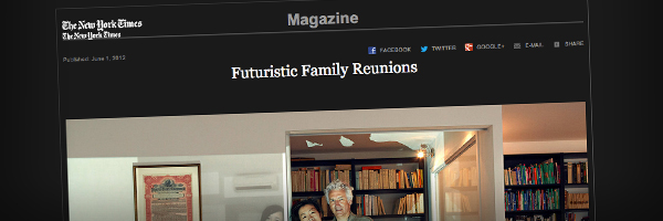Futuristic Family Reunions with Skype Top 50 Photography Posts 2012
