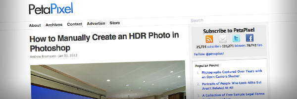 How to Manually Create an HDR Photo in Photoshop  Top 50 Photography Posts 2012