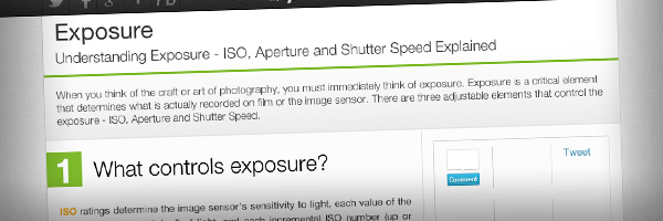 This Great Summary of Exposure Top 50 Photography Posts 2012