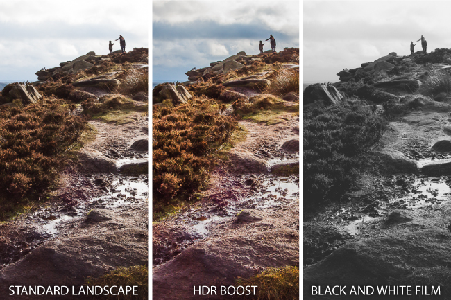 3 part landscape 2 spread Lightroom 4 Presets by SLR Lounge  Pros & Cons Review