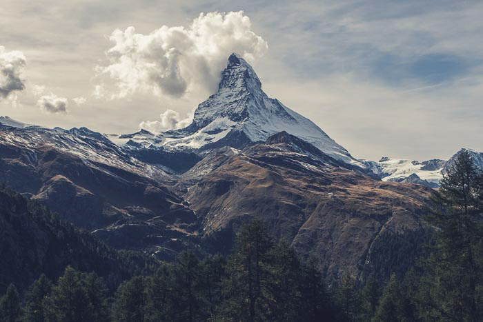 A breathtaking mountainous landscape photography shot