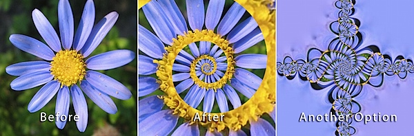 Photoshop droste effect before after tm 17 Creative Photography Tutorials to Cure Boredom