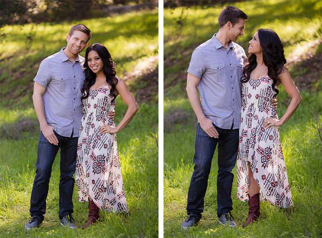 Natural Couples Poses In A Park