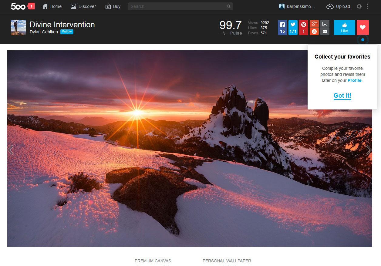 500px profile