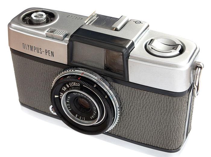 An Olympus Pen vintage camera