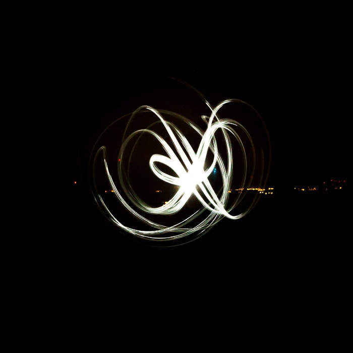 Abstract motion blur light painting