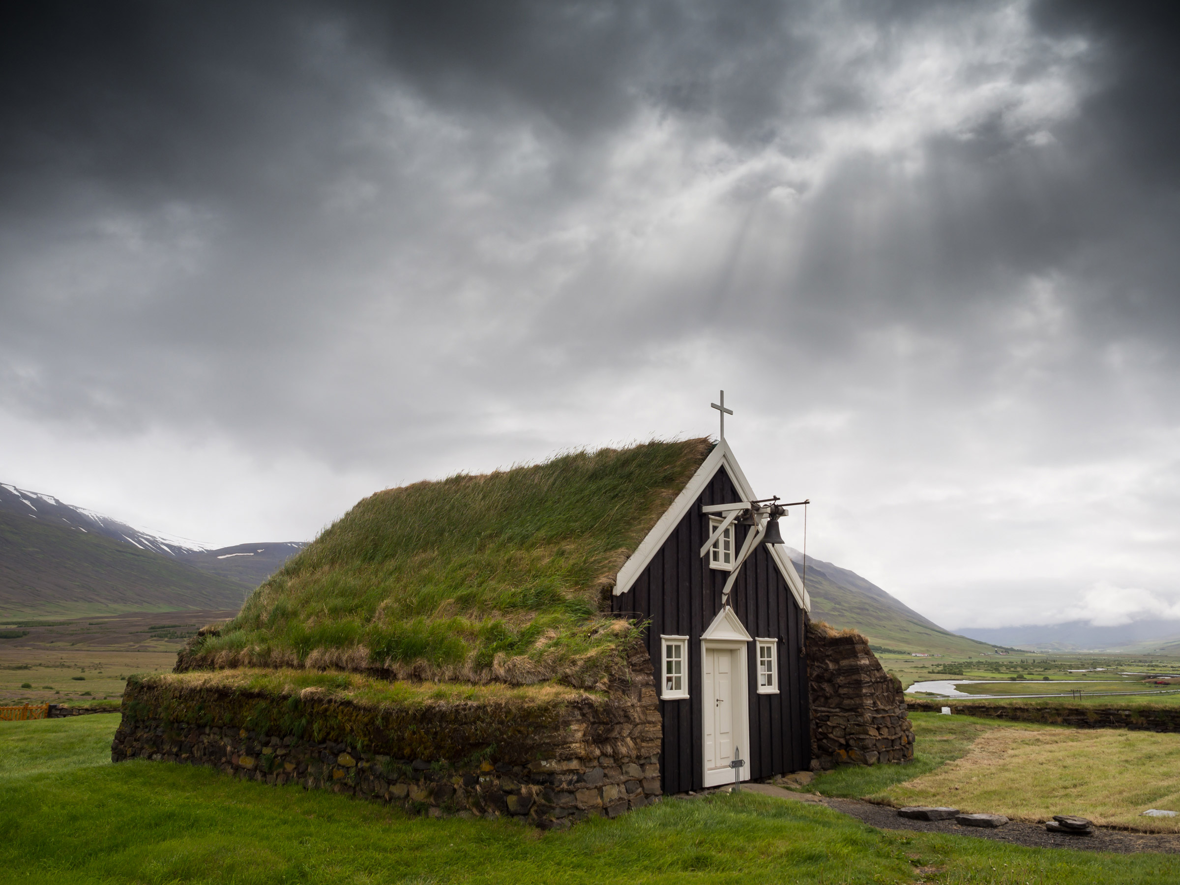 rustic church in iceland