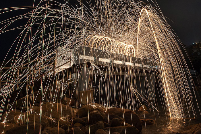 Steel Wool Photography Walking Spin