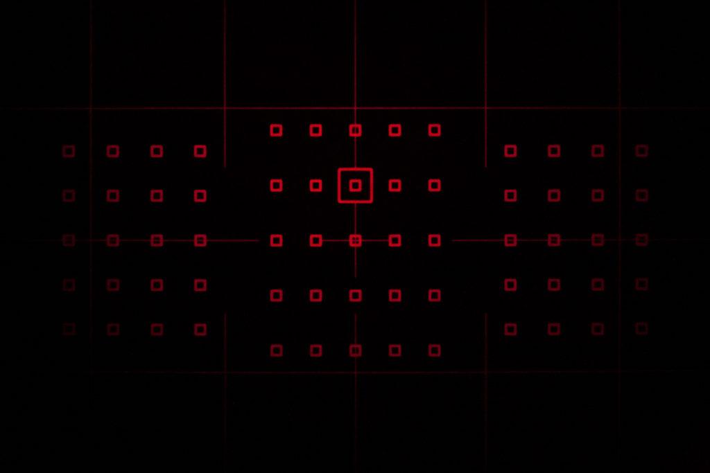 Canon 7D Mark II Focus Grid