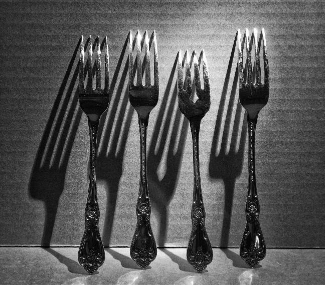 foto de horquillas con sombras