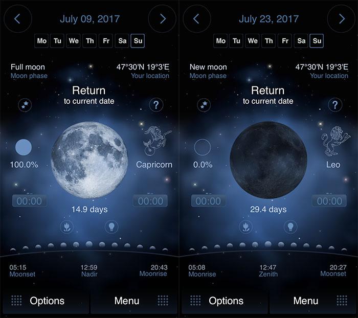 Screenshots of Deluxe Moon HD milky way photography app