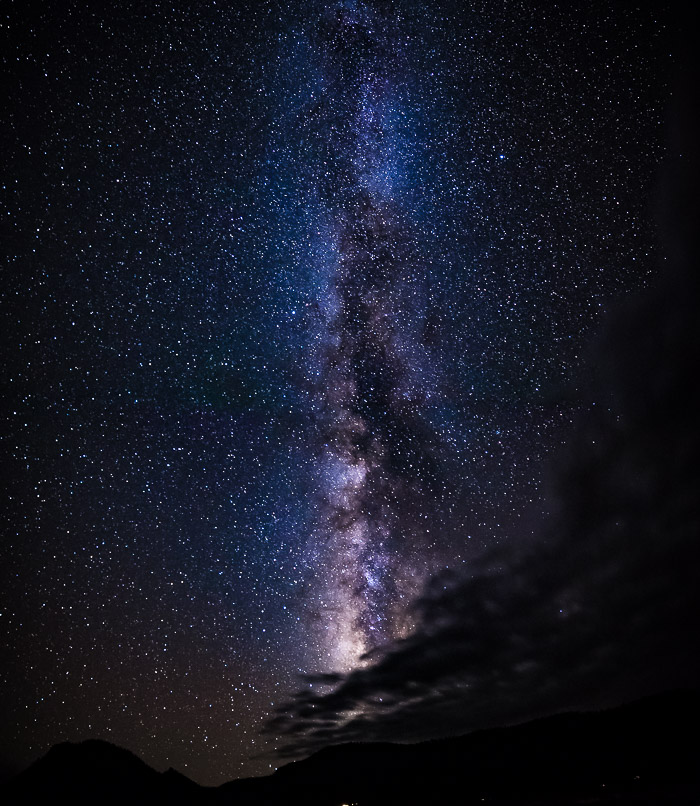 Finding The Milky Way: Milky Way appearing vertically