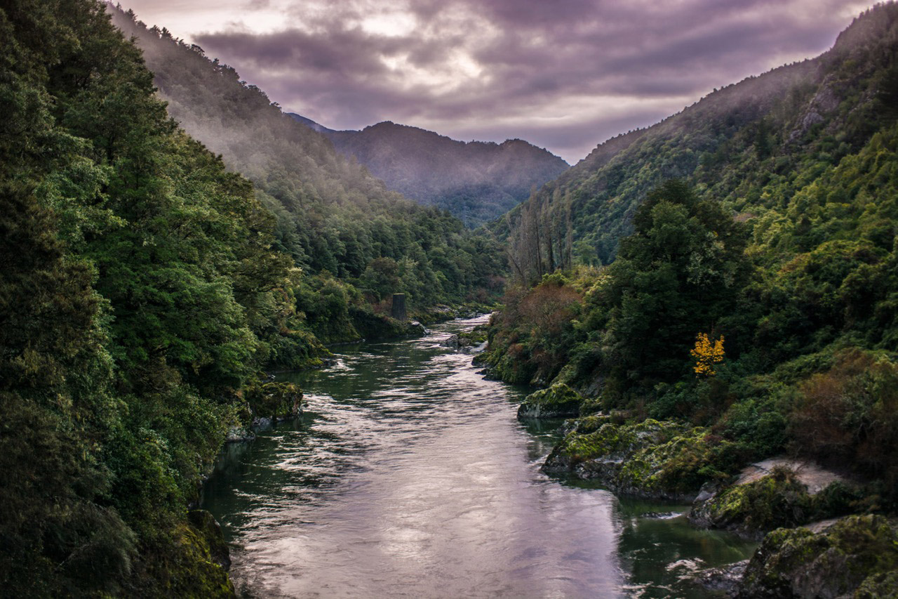 evening shot of buller gorge, new zealand - cool landscape locations