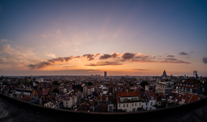 Fisheye Lens Photography: Sunset panorama