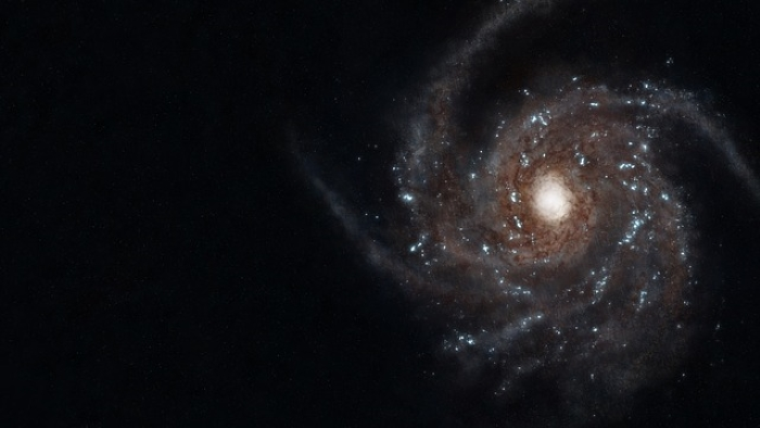 Image of the milky way from space
