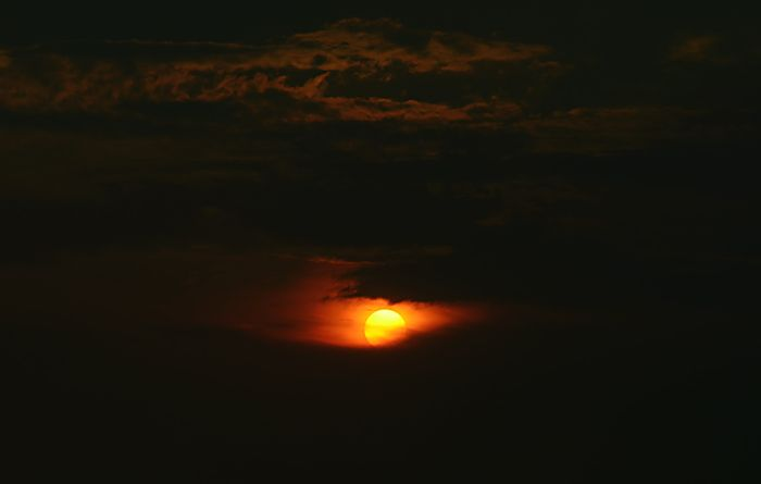 photo of the sun setting