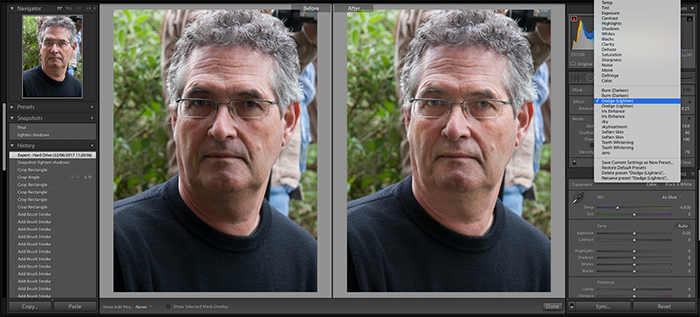 Editing Portrait photography in Lightroom
