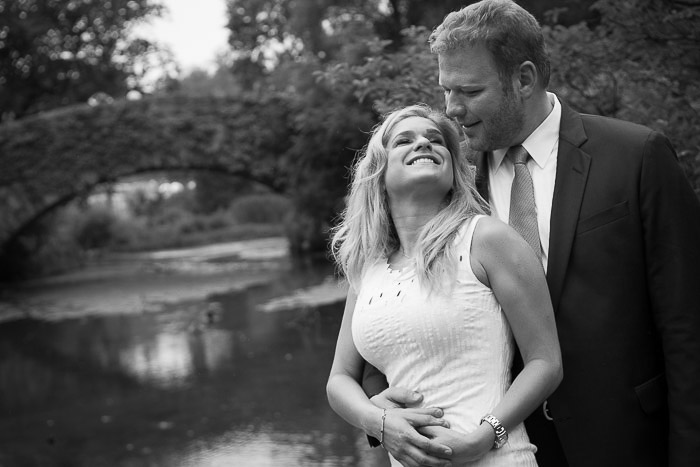 A black and white candid photography wedding shoot